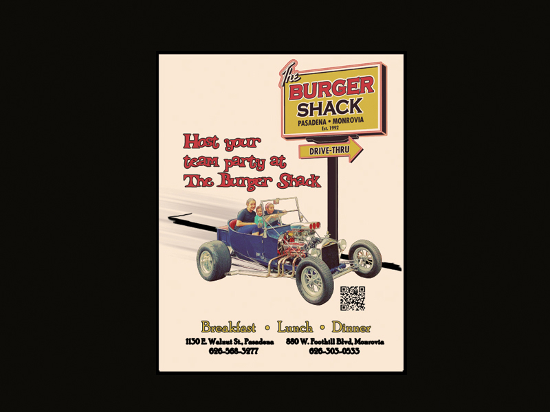 Burger Shack Hot Rod Ad